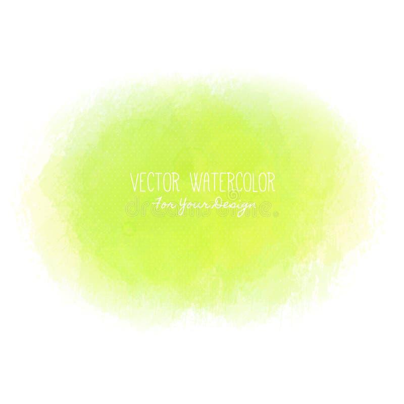 Ljus fläck Pseudovattenfärg måla textur Färgrik kludd Det kan användas som bakgrund för text vektor illustrationer