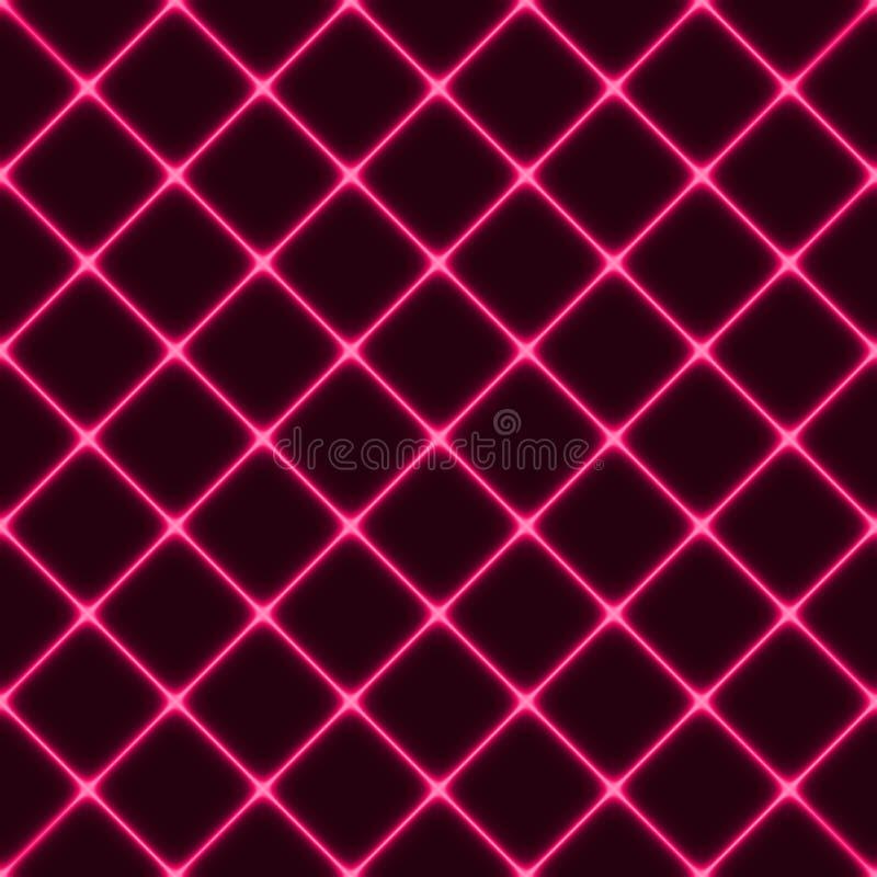 Ljus geometrisk modell, utrymmeillustration, vektor stock illustrationer