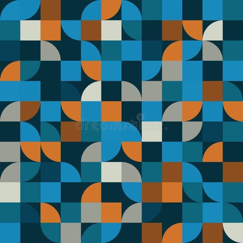 Ljus geometrisk vektorbakgrund, kvadrerat abstrakt sömlöst PA stock illustrationer