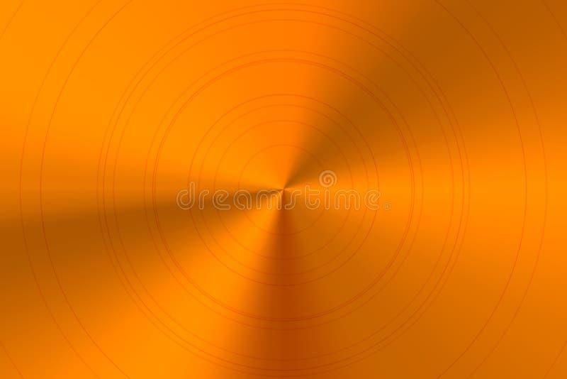 Ljus glansig runda polerad bronsmetall vektor illustrationer