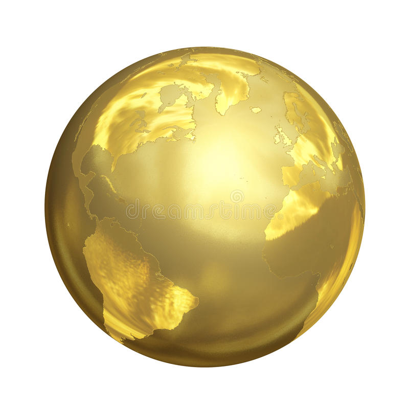 Ljus Golden Globe i 3D vektor illustrationer