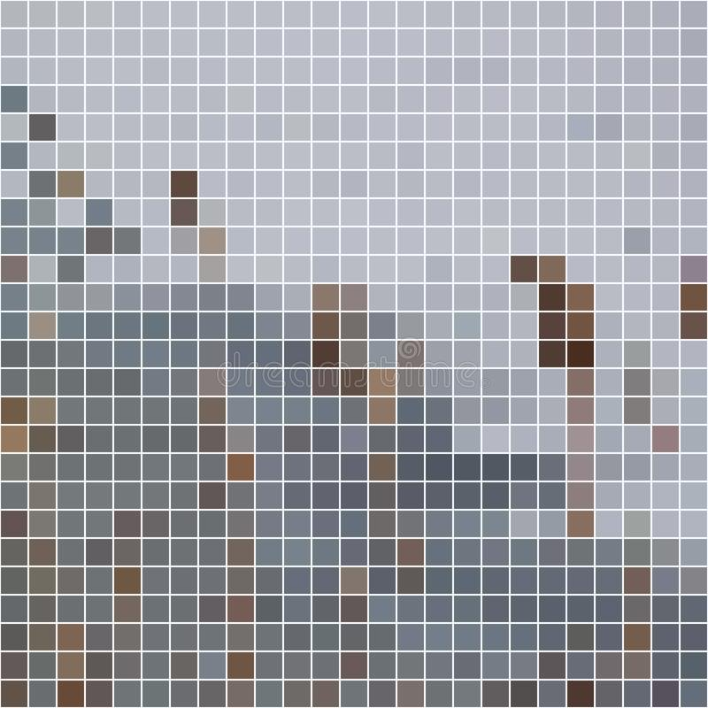 Ljus-grå färger och mörker-grå färger mosaikbakgrund arkivfoto