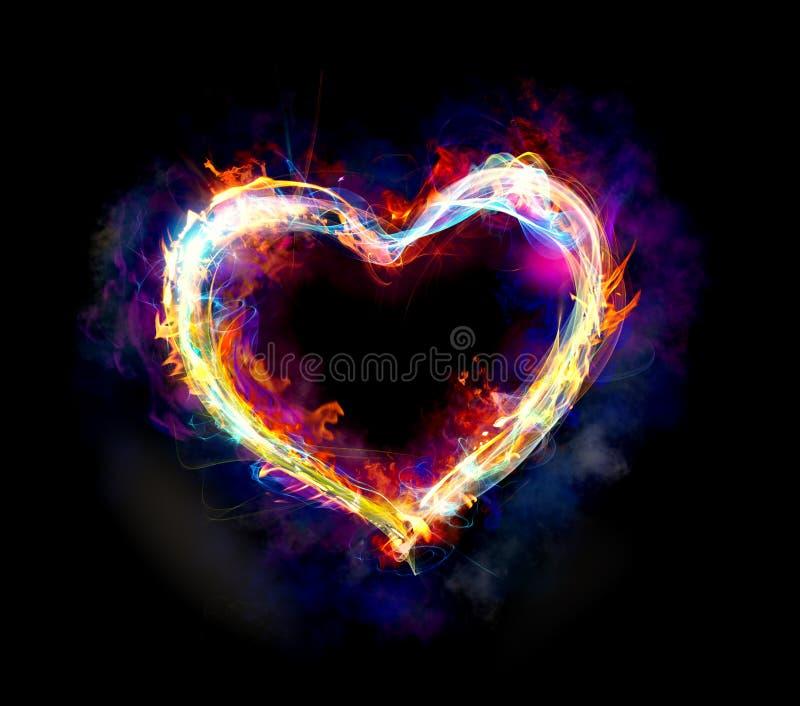 Ljus hjärta fotografering för bildbyråer