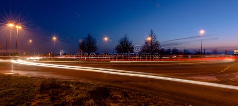 Ljus i staden arkivfoton