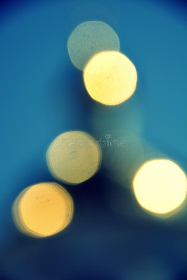 ljus i suddigheten arkivfoto