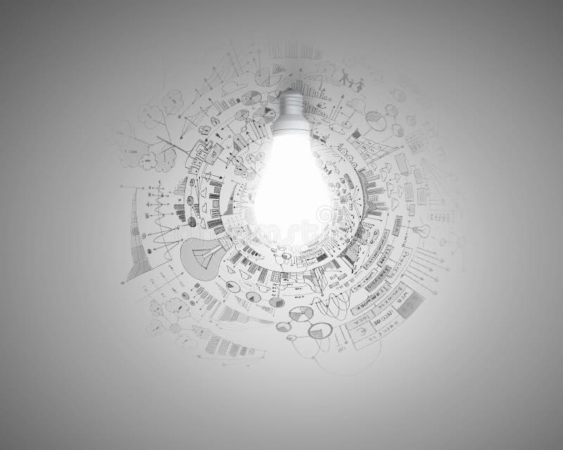 Ljus idé för plan arkivbilder