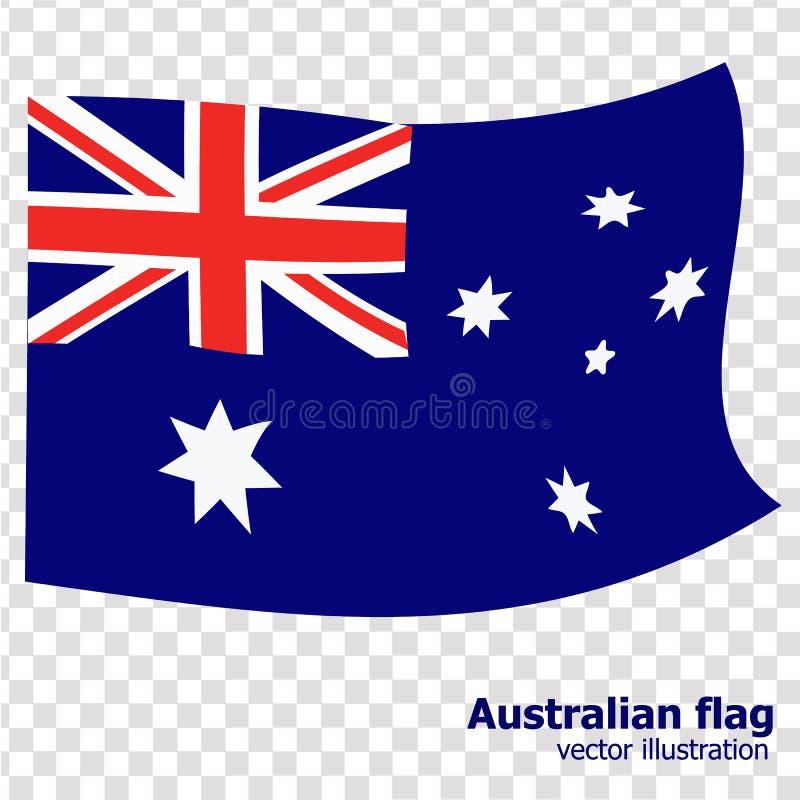 Ljus knapp med flaggan av Australien Lycklig Australien dagbakgrund illustration med vit bakgrund brigham royaltyfri illustrationer
