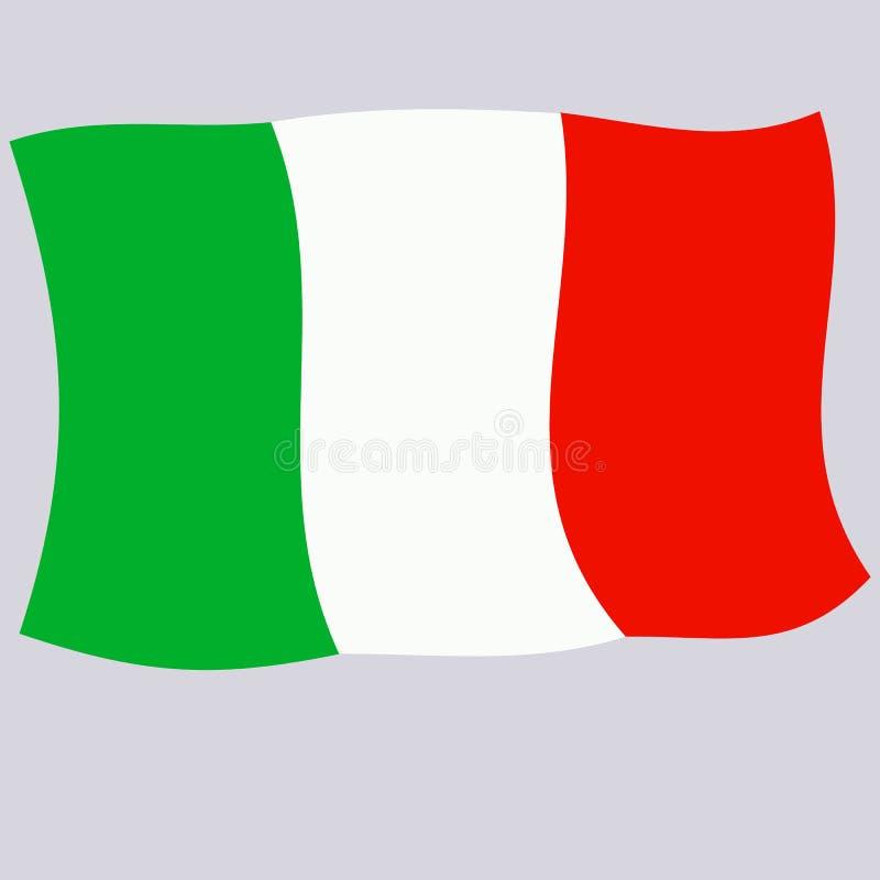 Ljus knapp med flaggan av Italien Lycklig Italien dagbakgrund Ljus illustration med flaggan stock illustrationer