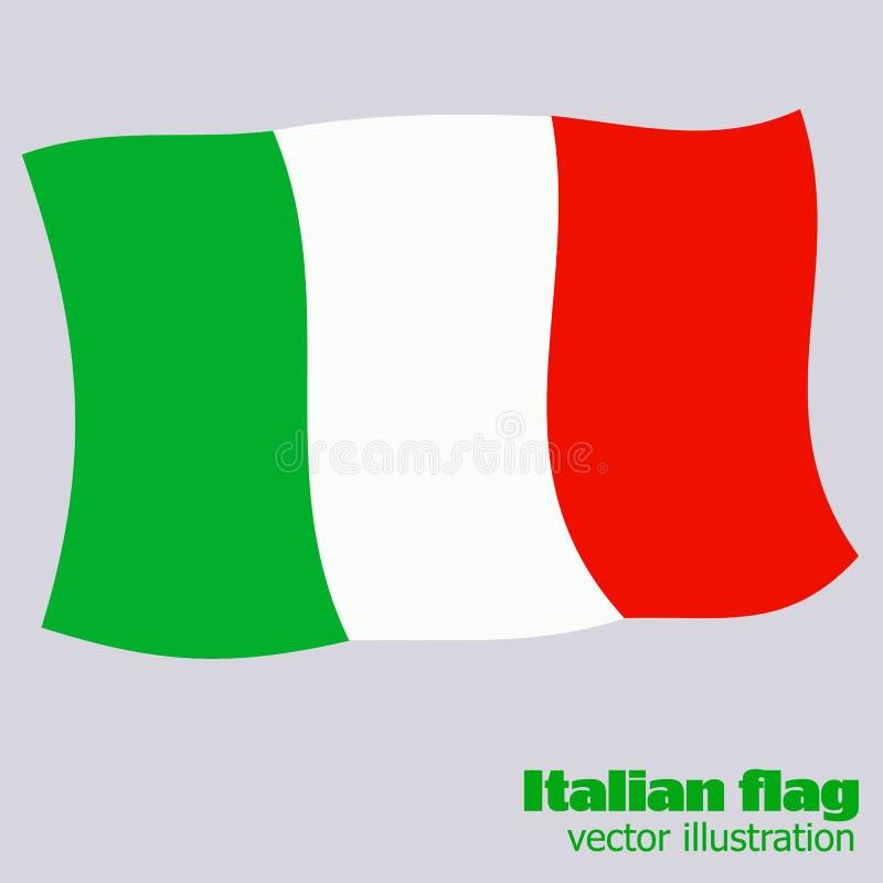 Ljus knapp med flaggan av Italien Lycklig Italien dagbakgrund Ljus illustration med flaggan också vektor för coreldrawillustratio vektor illustrationer