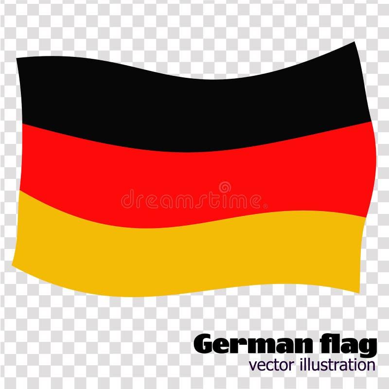 Ljus knapp med flaggan av Tyskland Banerillustration med flaggan Lycklig Tysklanddagbakgrund också vektor för coreldrawillustrati royaltyfri illustrationer