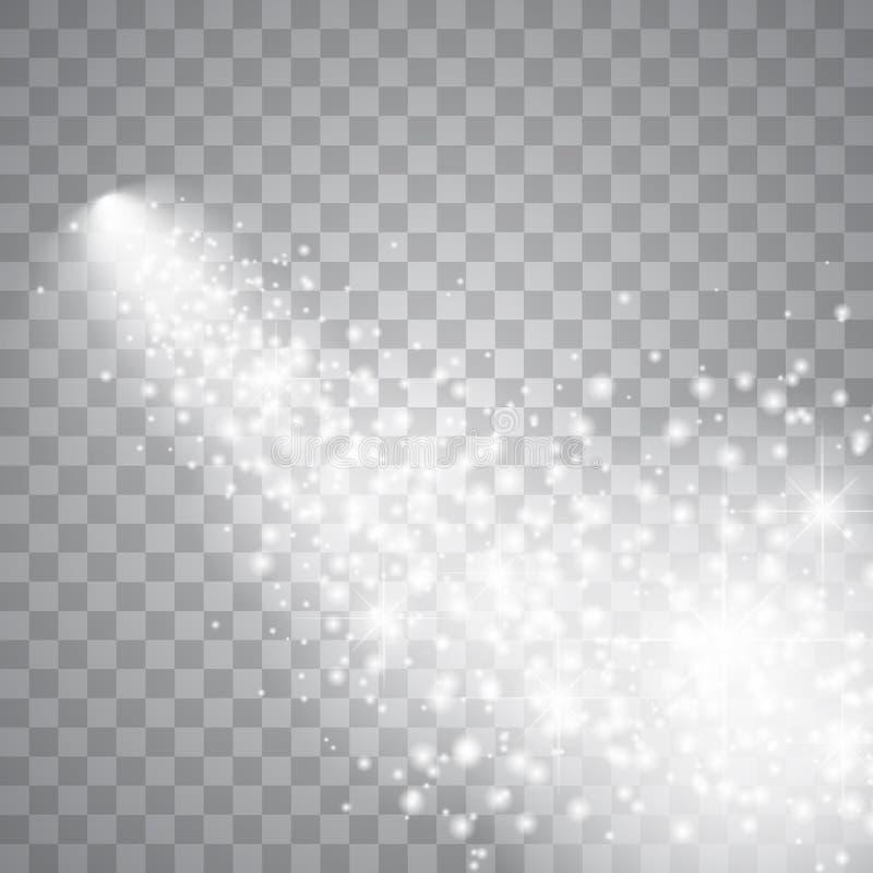 Ljus komet med stort damm royaltyfri illustrationer