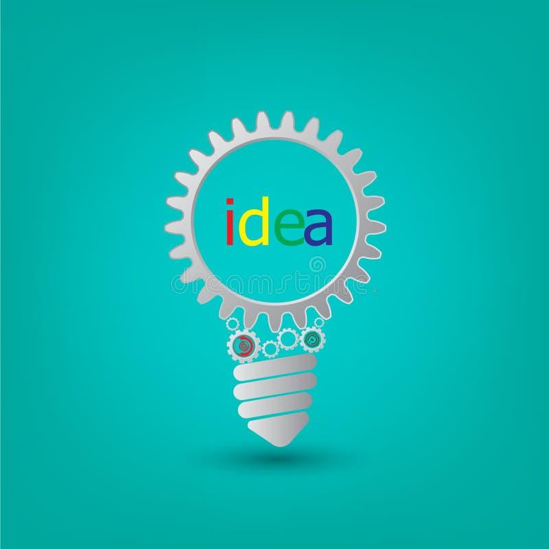 Ljus kula för bakgrundsfoto med kugghjul och kuggar som tillsammans arbetar vektor illustrationer