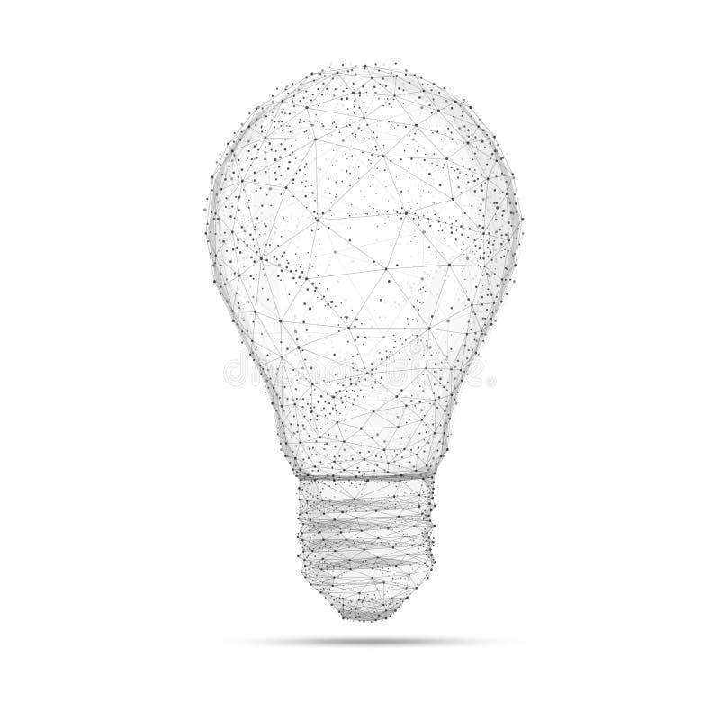 Ljus kula för Blockchain polygonidé som isoleras på vit vektor illustrationer