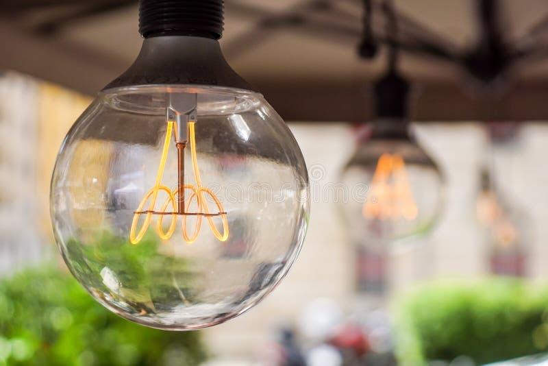 Ljus kula för dekorativ antik edison stil royaltyfri fotografi
