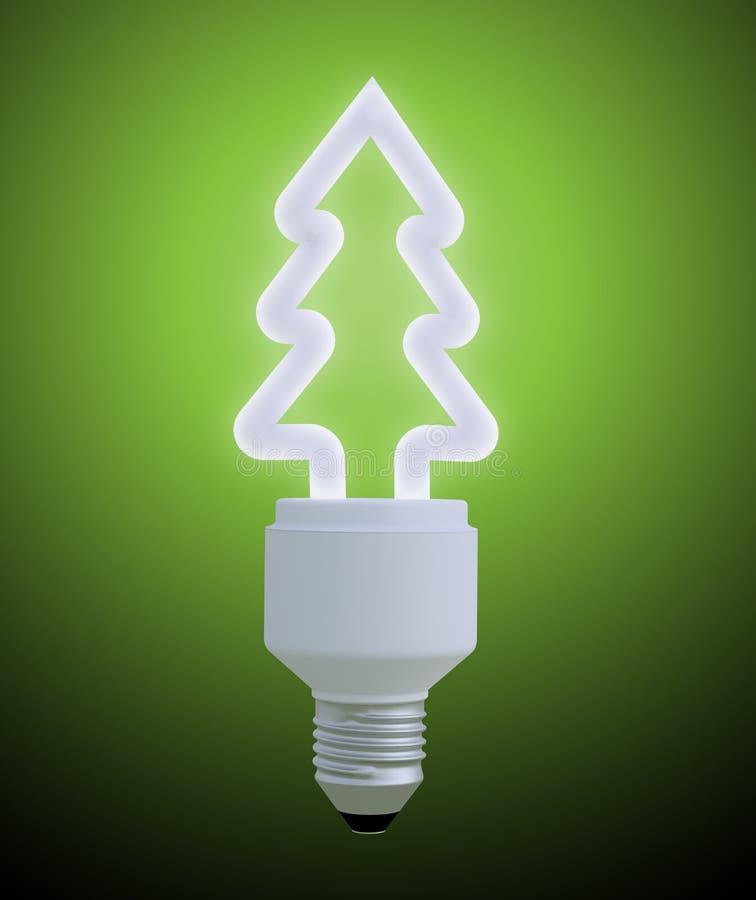 Ljus kula för julgran stock illustrationer