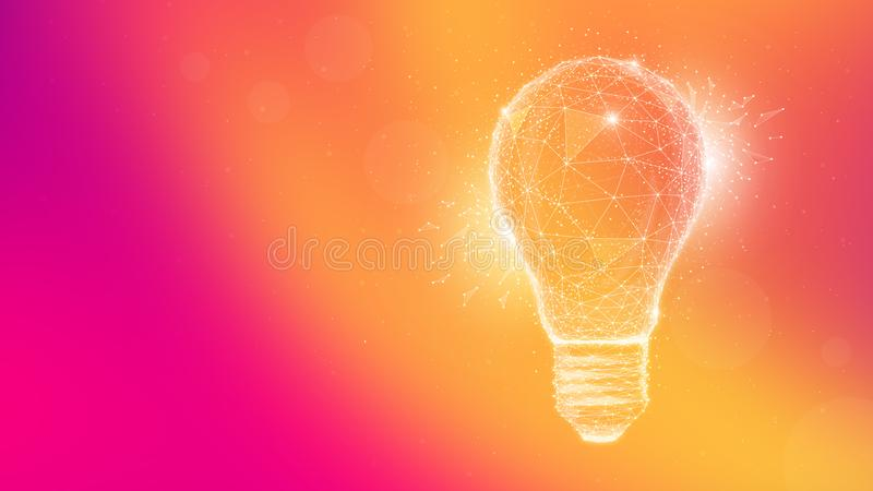Ljus kula för polygonidé på mångfärgad bakgrund vektor illustrationer
