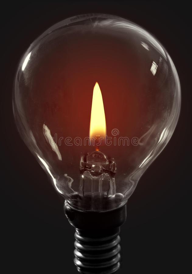 Ljus kula för stearinljusflamma arkivfoto