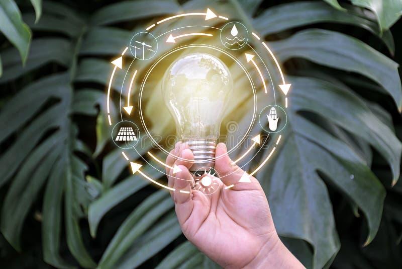 Ljus kula framme av den globala showen förbrukningen för världs` s med royaltyfri bild