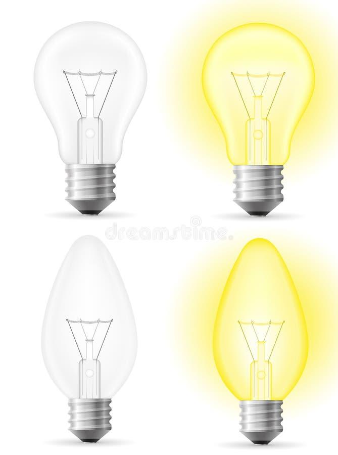 Ljus kulavektorillustration vektor illustrationer