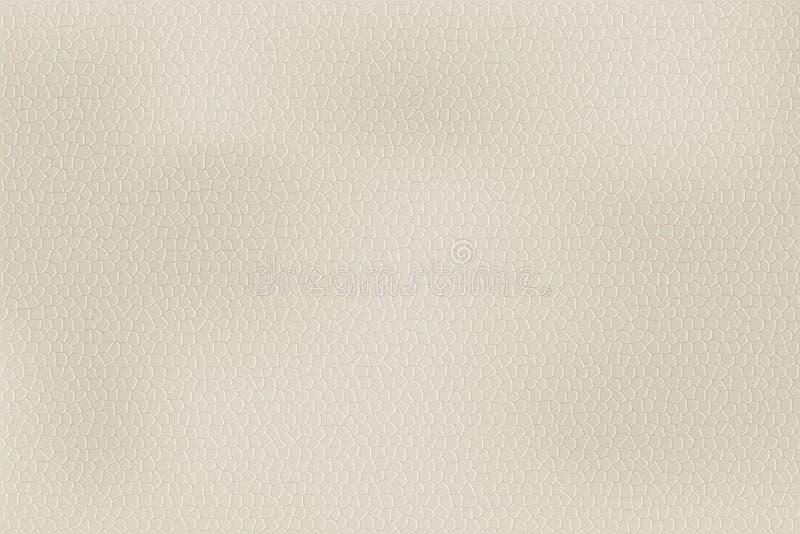 Ljus lädertextur Vektorillustration i realistisk stil stock illustrationer