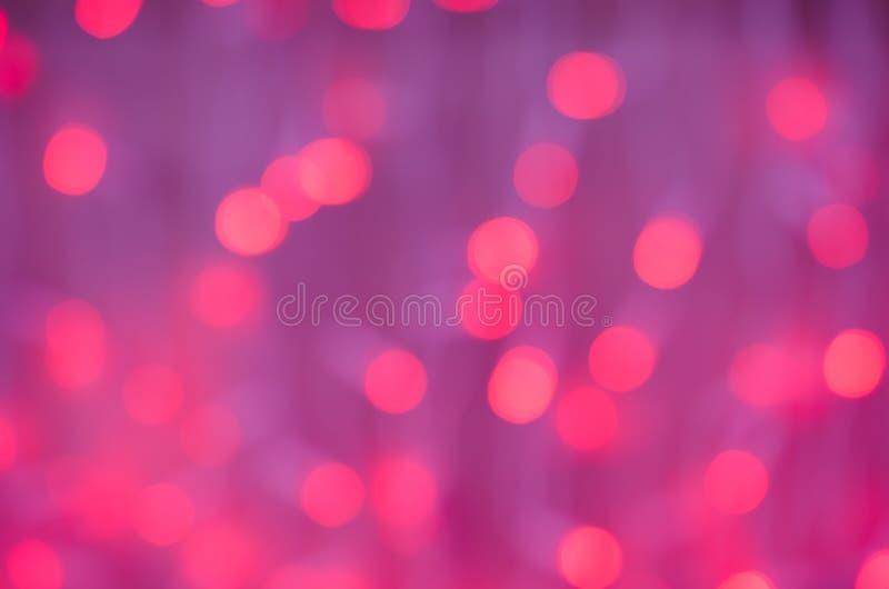 Ljus lila bakgrund för nytt år med rosa bokeh royaltyfri fotografi