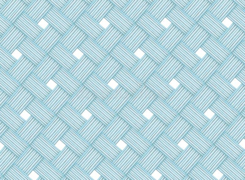Ljus - linjer för abstrakt begrepp för blå himmel flätade samman diagonala träbakgrund med vita romber royaltyfri illustrationer
