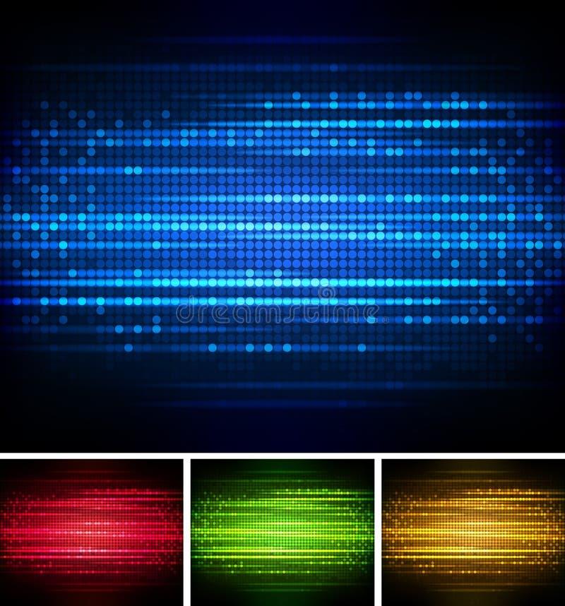 Ljus ljus bakgrund stock illustrationer