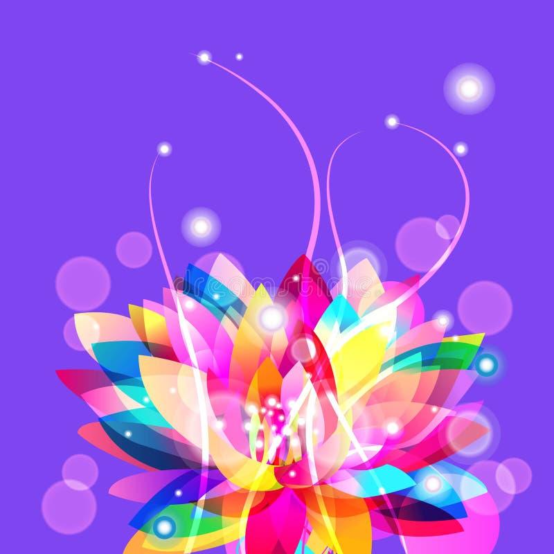 Ljus lotusblomma stock illustrationer