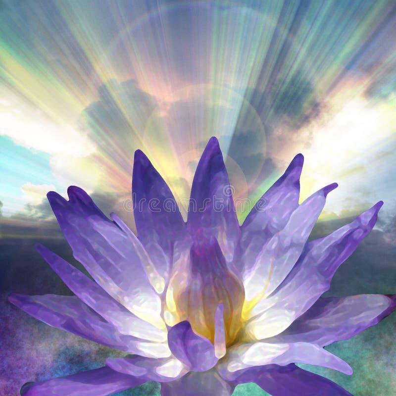 ljus lotusblomma royaltyfri illustrationer