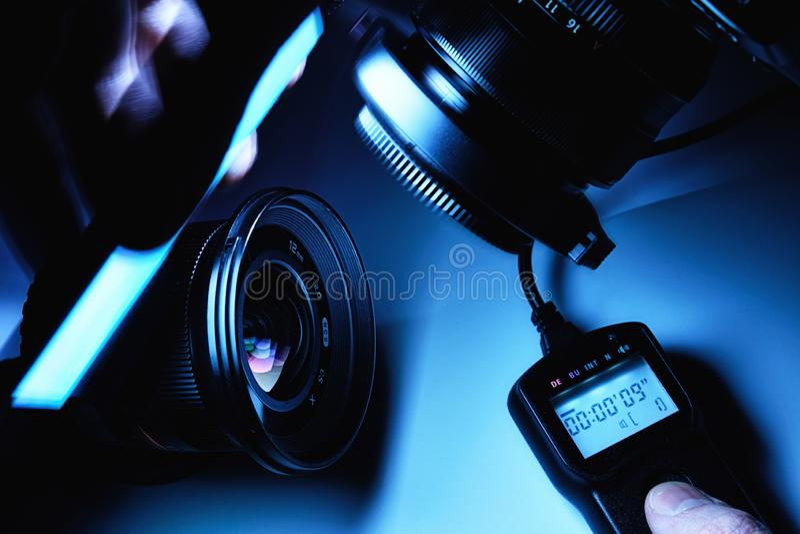 Ljus måla process royaltyfria foton