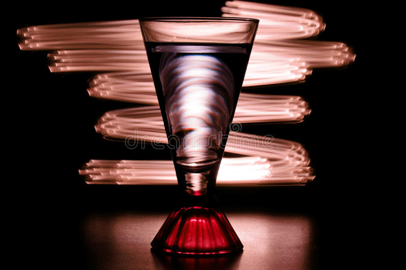Ljus målning med exponeringsglas royaltyfria bilder