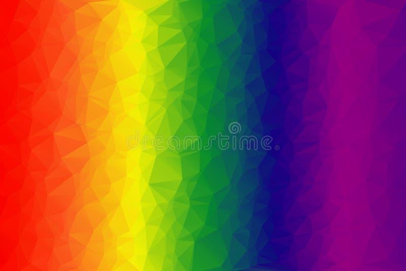 Ljus mång--färgad bakgrund Spektrum av färger stock illustrationer