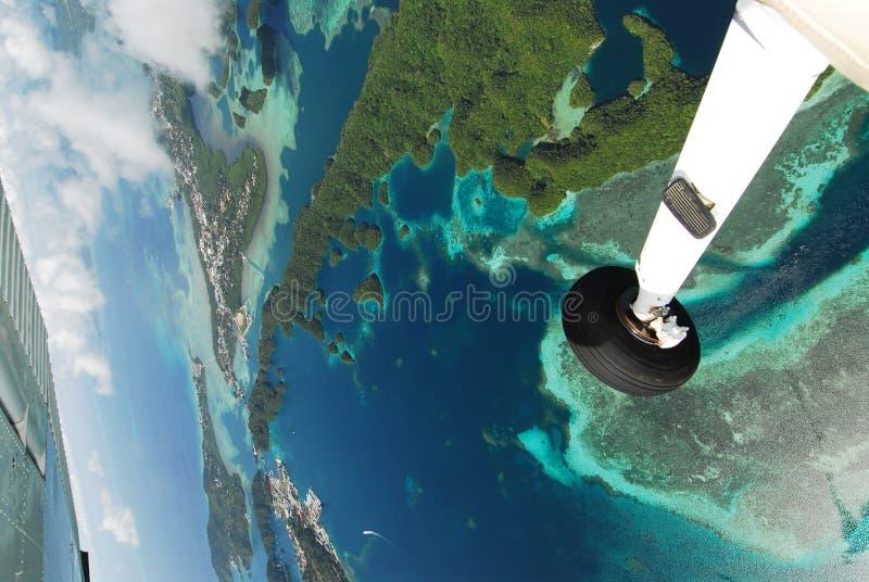 ljus micronesia för flyg- aircröar sikt arkivfoto