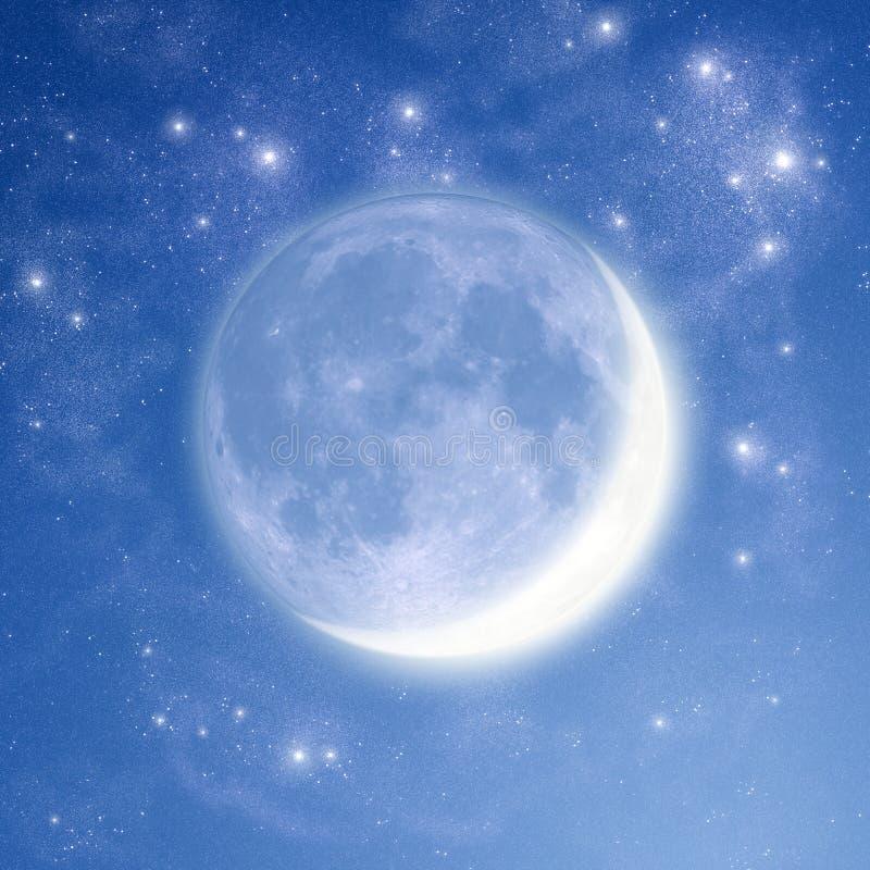 ljus moonmorgon stock illustrationer
