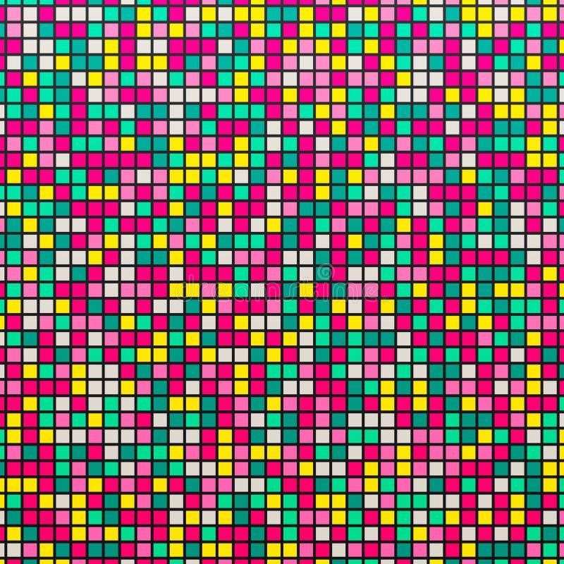 Ljus mosaik Färgrik abstrakt bakgrund med mosaiken också vektor för coreldrawillustration vektor illustrationer