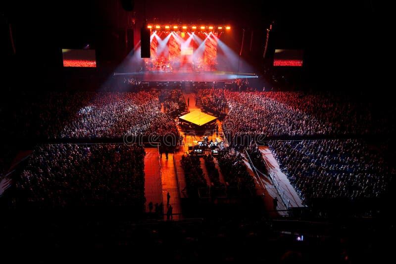 ljus musikalisk kapacitetsshow för konsert fotografering för bildbyråer
