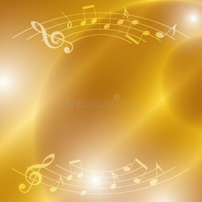 Ljus musikbakgrund med anmärkningar och ljus vektor illustrationer