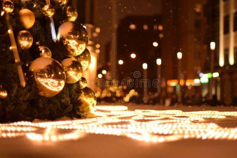 Ljus och bollar royaltyfri bild