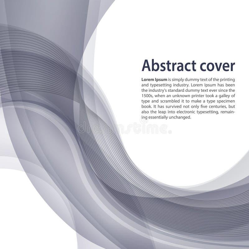 Ljus och mörk grå bakgrund med lutning och blandning Affär stock illustrationer