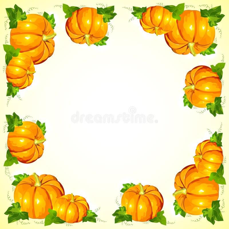Ljus orange vektorpumparam royaltyfri illustrationer