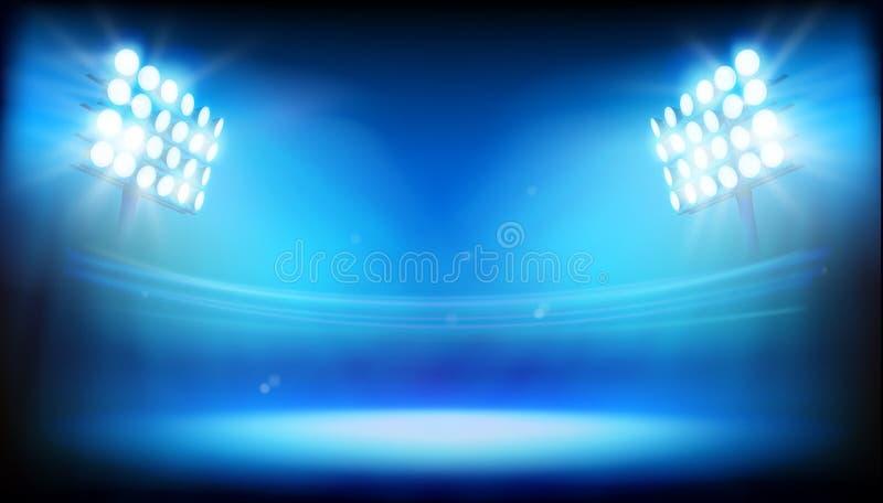 Ljus på stadion också vektor för coreldrawillustration vektor illustrationer