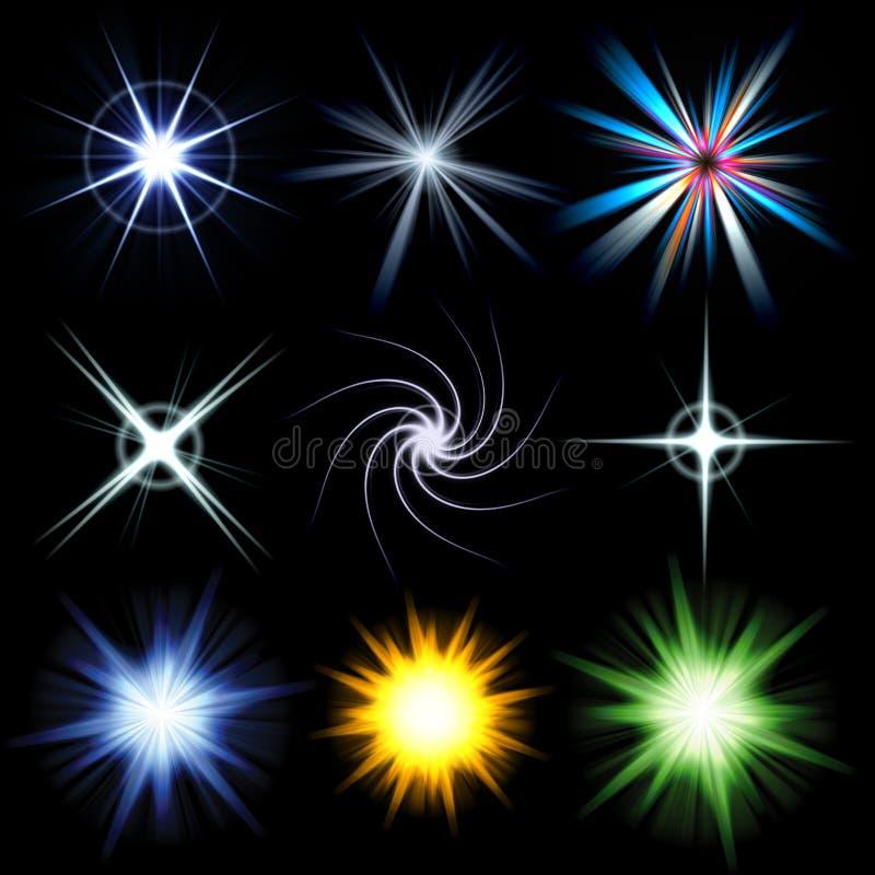 ljus packe för bristningssignalljuslins royaltyfri illustrationer
