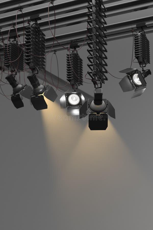Ljus Pantograph för etapp royaltyfria foton