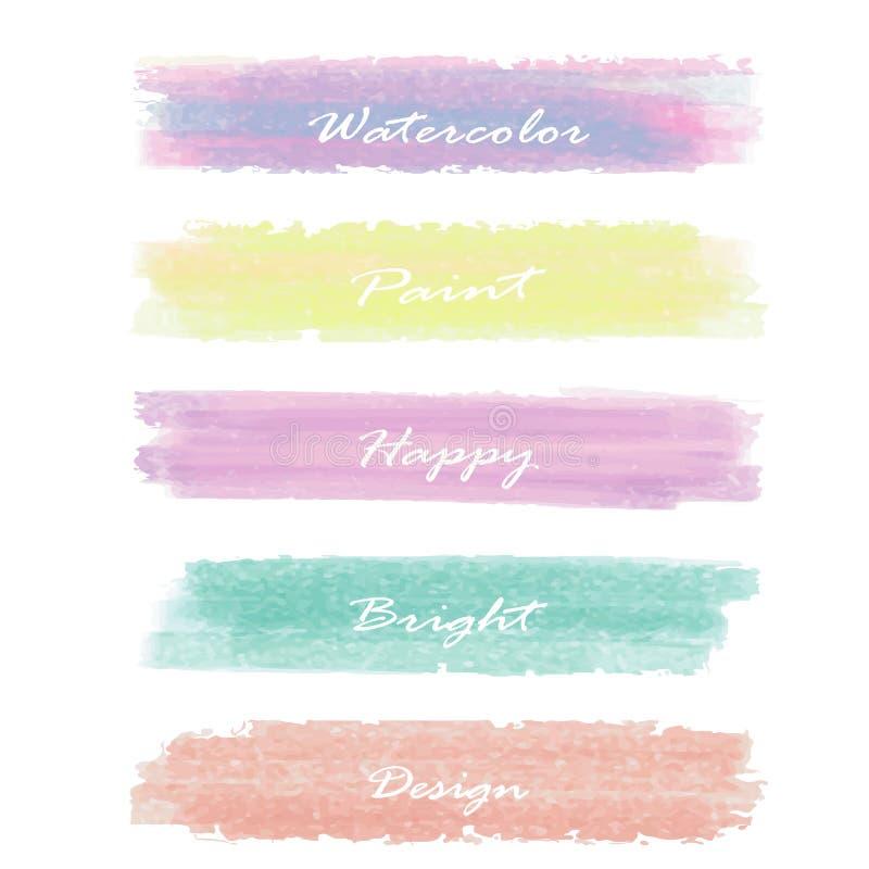 Ljus - pastellfärgat baner för rosa gulingförälskelse för blå gräsplan på sommar royaltyfri illustrationer