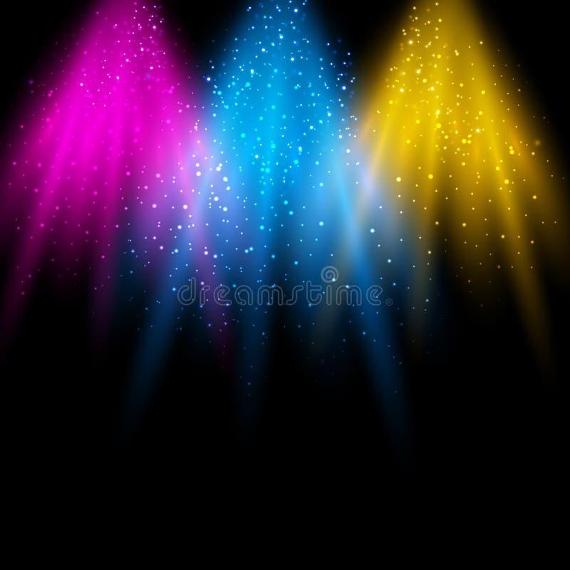 Ljus plats vektor illustrationer