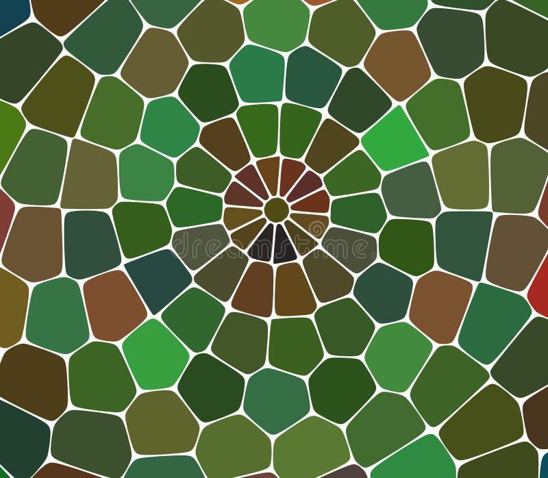 Ljus - polygonal illustration för grön vektor, som består av trianglar Triangulär modell för din affärsdesign stock illustrationer