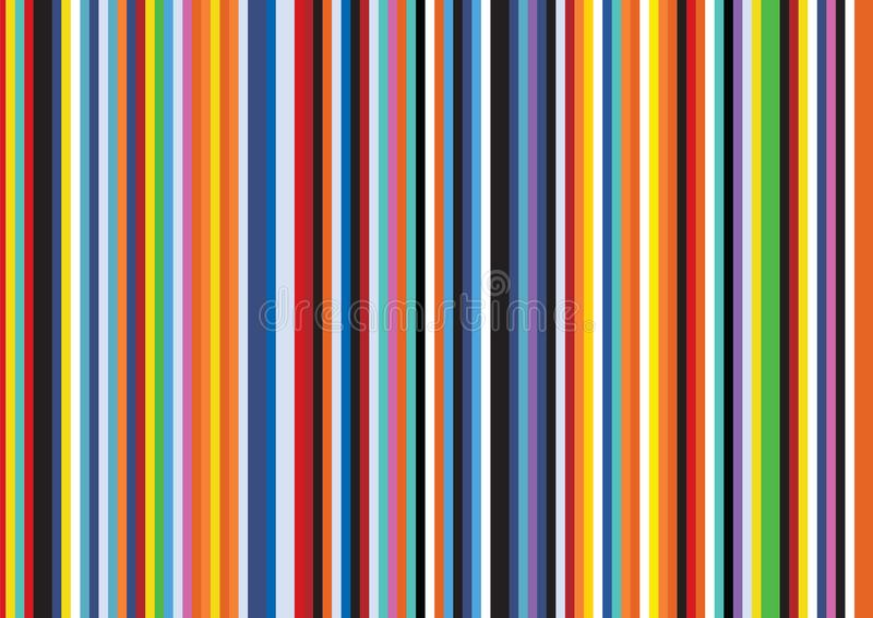 Ljus popArt Retro Stripe Vertical Flat linje modellbakgrund royaltyfri illustrationer