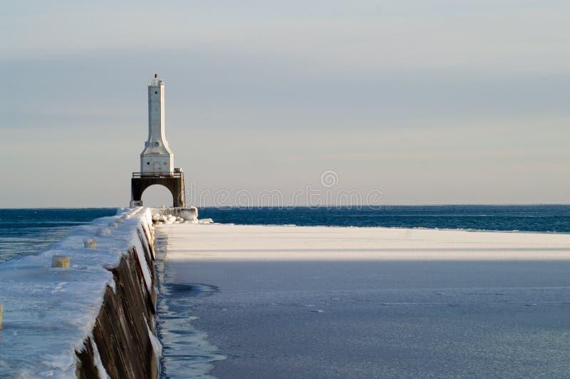 ljus port washington för vågbrytare royaltyfria bilder