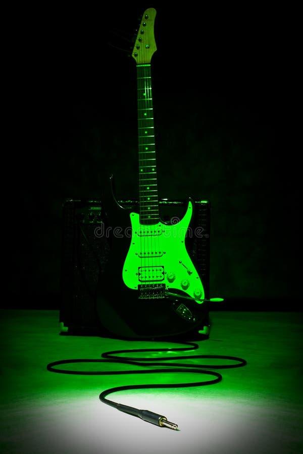 ljus proppfläck för gitarr arkivfoto