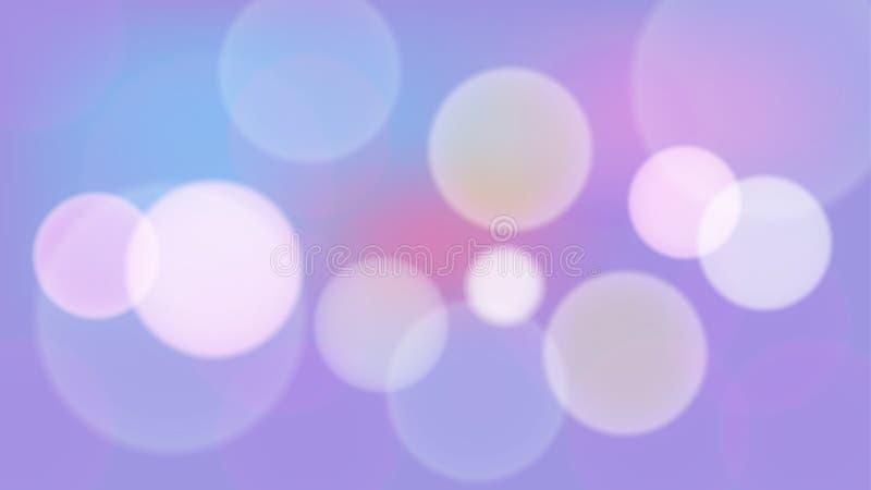 Ljus purpurfärgad bokehvektorbakgrund vektor illustrationer